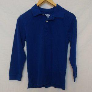 Izod Blue Collared Long Sleeve Shirt Size L 10/12